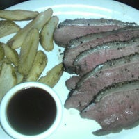 Photo taken at Hoffbrau Steaks by Brandon B. on 12/22/2012