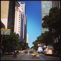 Photo taken at Avenida Rio Branco by Túlio S. on 4/22/2013