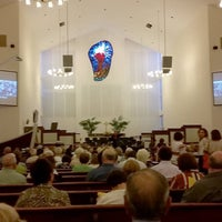 Photo taken at First Presbyterian Church of Pompano Beach by Chad M. on 10/14/2015