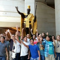 Photo taken at King Kamehameha Statue by Chad M. on 5/3/2013