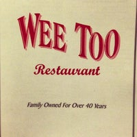 Photo taken at Wee Too Restaurant by Robert T. on 6/16/2013