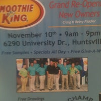 Photo taken at Smoothie King by DeAndre I. on 11/2/2012