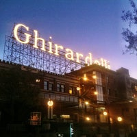 Photo taken at Ghirardelli Square by Lise S. on 1/31/2013