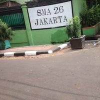 Photo taken at SMAN 26 Jakarta by Kareen N. on 10/23/2015