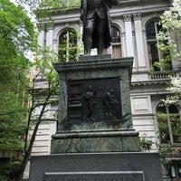 Photo taken at Benjamin Franklin Statue by Richard F. on 5/13/2016