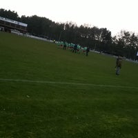 Photo taken at Voetbal K Hechtel FC by Anouck A. on 3/6/2016