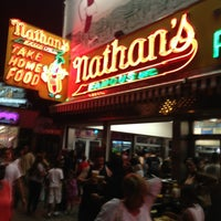 Photo taken at Nathan's Famous by XboxBrooklyn K. on 7/6/2013