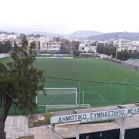 Photo taken at Γήπεδο Ποδοσφαίρου Μελισσίων by Jim A. on 3/18/2013
