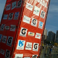 Photo taken at 22º Triathlon Internacional de Santos by Natália F. on 2/24/2013
