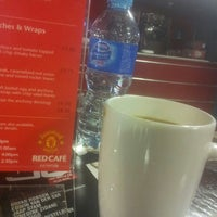 Photo taken at Manchester United Red Café by AbuSulaiman .. on 5/3/2013