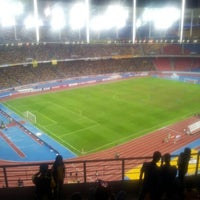 Photo taken at Stadium Nasional Bukit Jalil by Poney Y. on 11/25/2012