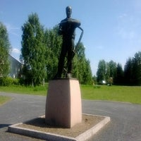 Photo taken at Niittäjäpatsas by Kimmo A. on 6/7/2013