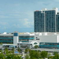 Photo taken at Hilton Miami Downtown by Laurence R. on 2/14/2014