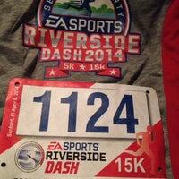 Photo taken at Riverside Dash 5k & 15k by Angie F. on 4/6/2014
