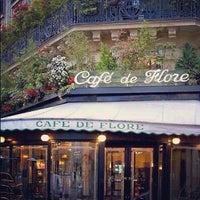 Photo taken at Café de Flore by Nikita R. on 10/22/2012
