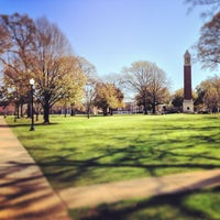 Photo taken at University of Alabama Quad by Walkerscoop on 3/14/2013