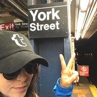 Photo taken at MTA Subway - York St (F) by Olga K. on 5/20/2017