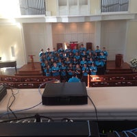 Photo taken at Christ Church Pres Sound Booth by Brown Bag A. on 6/8/2014