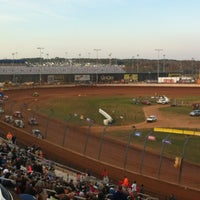 Photo taken at The Dirt Track at Charlotte Motor Speedway by Dede P. on 11/2/2012