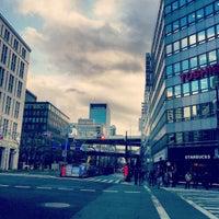 Photo taken at Midosuji Line Hommachi Station (M18) by torisuke12 on 2/6/2013