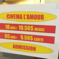 Photo taken at Cinéma L'Amour by Denis R. on 4/25/2014