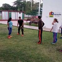Photo taken at Unidad Deportiva Bicentenario (CREA) by Luisda R. on 3/10/2016