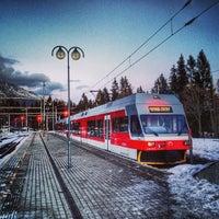 Photo taken at Železničná stanica Štrbské Pleso by Eduard L. on 1/3/2014