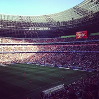 Photo taken at VIP-ложа Donbass arena by Eduard L. on 4/28/2013