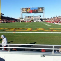 Photo taken at Jack Trice Stadium by Aaron H. on 11/23/2012