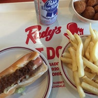 Photo taken at Rudy's Hot Dog by Andrea R. on 4/10/2015