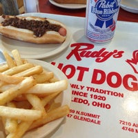 Photo taken at Rudy's Hot Dog by Andrea R. on 5/25/2014