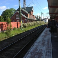 Photo taken at Sölvesborg Station by Kimberly M. on 6/9/2013