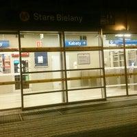 Photo taken at Stacja Bielany by Michał S. on 3/26/2016