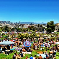 Photo taken at Mission Dolores Park by Leon C. on 6/29/2013
