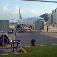 Photo taken at Aeropuerto Internacional de Villahermosa C.P.A. Carlos Rovirosa Pérez (VSA) by Ana F. on 10/1/2012