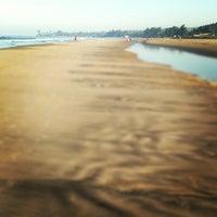 Photo taken at Morjim Beach by Красные Л. on 12/12/2012