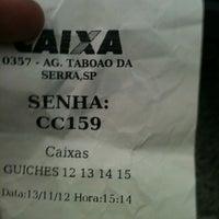 Foto tomada en Caixa Econômica Federal por Diego B. el 11/13/2012