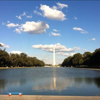 Photo taken at Lincoln Memorial Reflecting Pool by Max U. on 9/23/2012