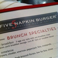 Photo taken at 5 Napkin Burger by Andrew on 2/23/2013