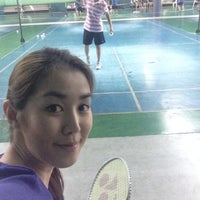 Photo taken at CC Badminton Court by Thunyaporn K. on 3/22/2014