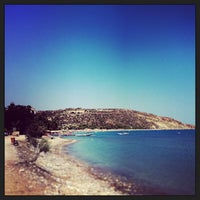 Photo taken at Pissouri Beach by Andrey S. on 7/28/2013