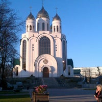 Photo taken at Кафедральный Собор Христа Спасителя by Raivo on 4/28/2013