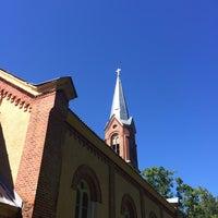Photo taken at Salas Sv.Jāņa ev.Luterāņu baznīca by Raivo on 8/15/2015