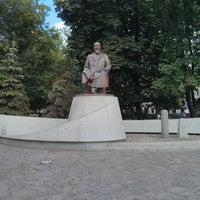 Photo taken at Abay Kunanbayev Monument by Ilya on 7/17/2013