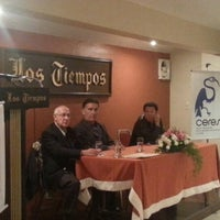 Photo taken at Los Tiempos by Fabiola C. on 2/14/2014