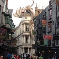 Photo taken at The Wizarding World Of Harry Potter - Diagon Alley by Michael B. on 7/31/2014