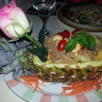 Photo taken at Blue Elephant Thai Cuisine by Ryan E. on 3/26/2014