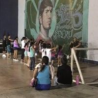 Photo taken at Coliseo Aldo Chamochumbi by Lobii Caldas  on 4/6/2017