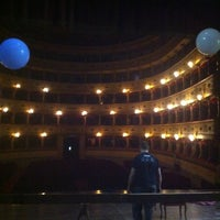 Photo taken at Teatro Sociale di Mantova by Daniele C. on 4/12/2014
