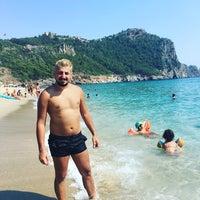 Photo taken at Kleopatra Plajı by Hakan K. on 7/20/2016